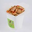 Острая жареная лапша с цыпленком, вес: 300 грамм