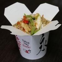 Острый жареный рис с цыпленком, вес: 300 грамм