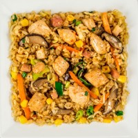 Шанхайский рис с цыпленком, вес: 300 грамм