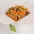 Вега-рис с сельдереем, шиитаке, цукини в соево-имбирном соусе, вес: 300 грамм