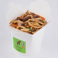 Вокси по-сычуаньски с грибами шиитаке, пекинской капустой, мясом теленка, вес: 300 грамм