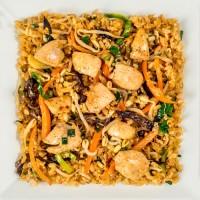 Жареный рис с цыпленком, вес: 300 грамм