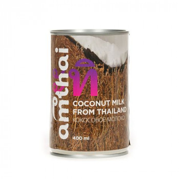 "Кокосовое молоко ""AMTHAI"" (раст. жиры 19-20%) 400 мл"