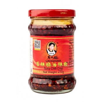 Острый соус с хрустящим перцем чили Lao Gan Ma ст. бан. 210 г.