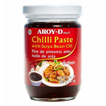 Паста Чили с соевым маслом AROY-D ст. бан. 260 г.